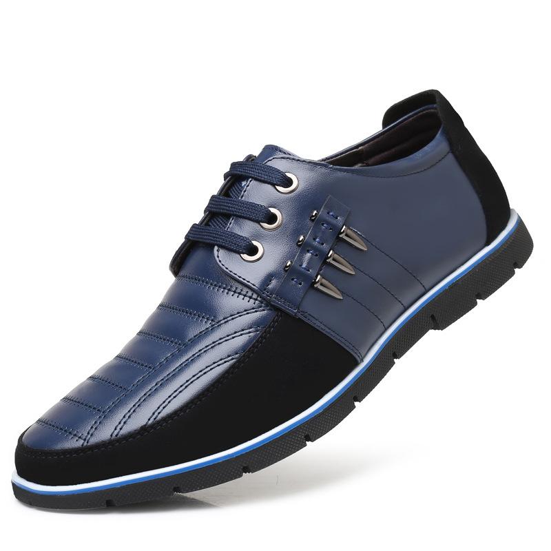 JDSL Giày da Giày nam size lớn giày đế mềm rỗng xu hướng 47 yard lỗ 48 yard dây da tăng giày đơn tại