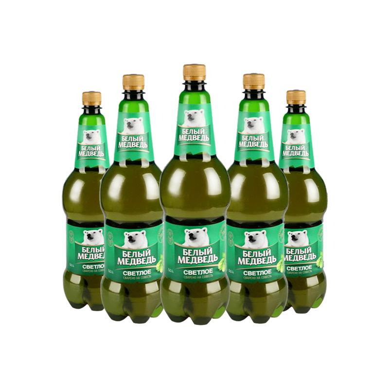 NLSX bia Bia thủ công nhập khẩu nguyên bản, nhãn hiệu gấu trắng lớn, rượu vang tươi, 1,5 lít, 6 chai