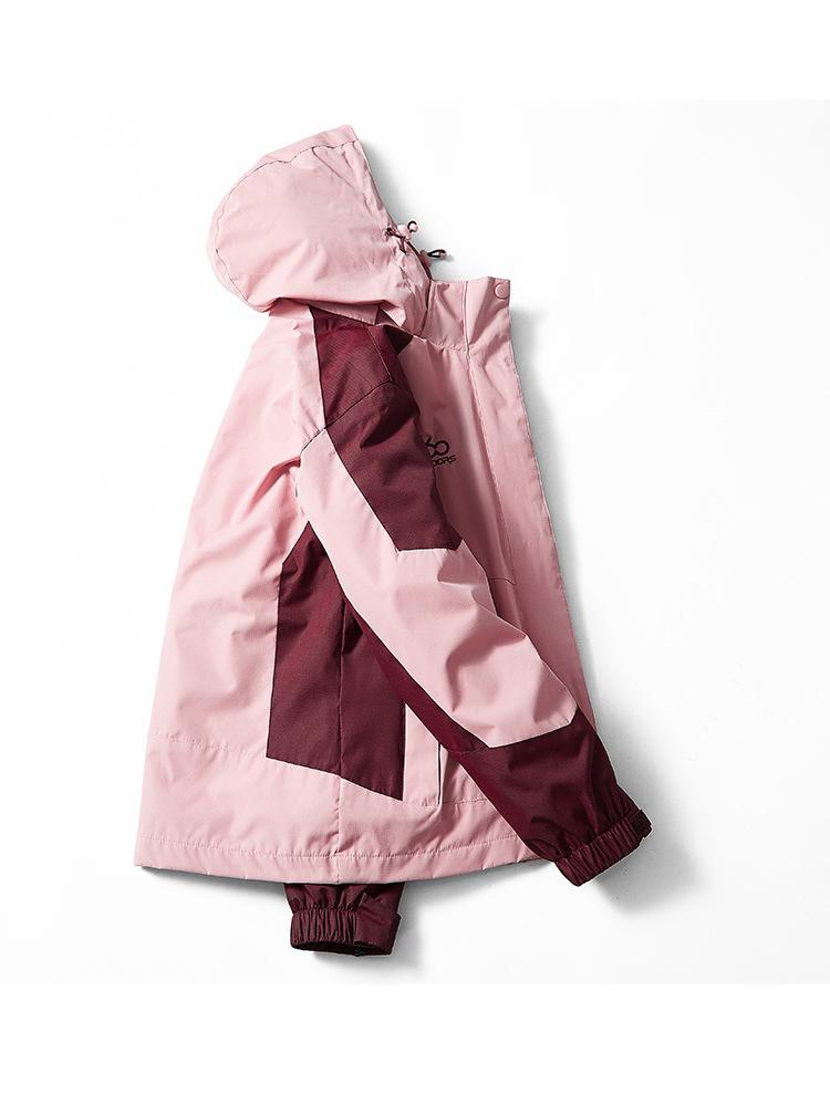 Quần áo leo núi Nhà máy trực tiếp tùy chỉnh mùa đông gió thoáng khí nam nữ thêu đôi áo khoác ngoài t