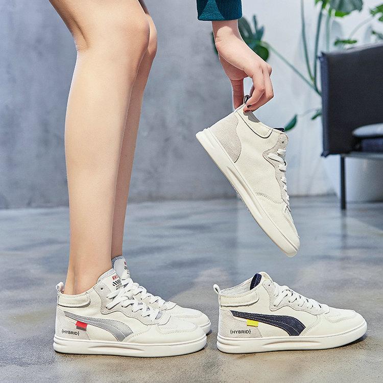 HUANLEDENG Giày Sneaker / Giày trượt ván Giày nữ mới mùa xuân 2020 và phiên bản Hàn Quốc của giày đế