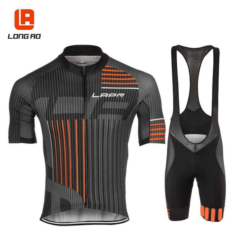 LONGAO Quần áo mau khô Mùa hè nhanh khô quần áo hấp thụ độ ẩm đi xe đạp tay ngắn phù hợp với nam quầ