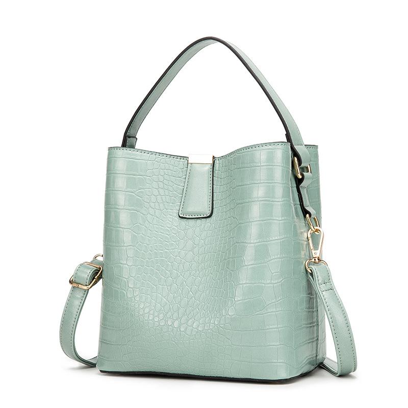 Túi xách Mới túi nữ bình thường vai xô túi cao cấp mô hình cá sấu pu túi ngang túi xách công suất lớ