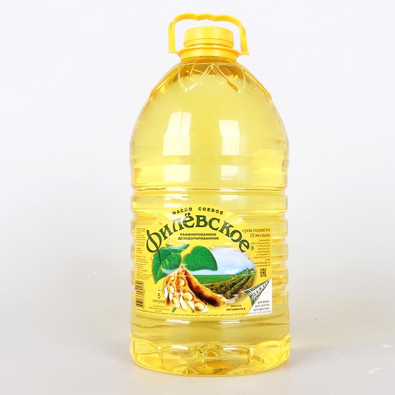 NLSX dầu thực vật Nhà máy dầu đậu nành Filevskaye không biến đổi gen nhập khẩu gốc Nga Dầu ăn 5L thù