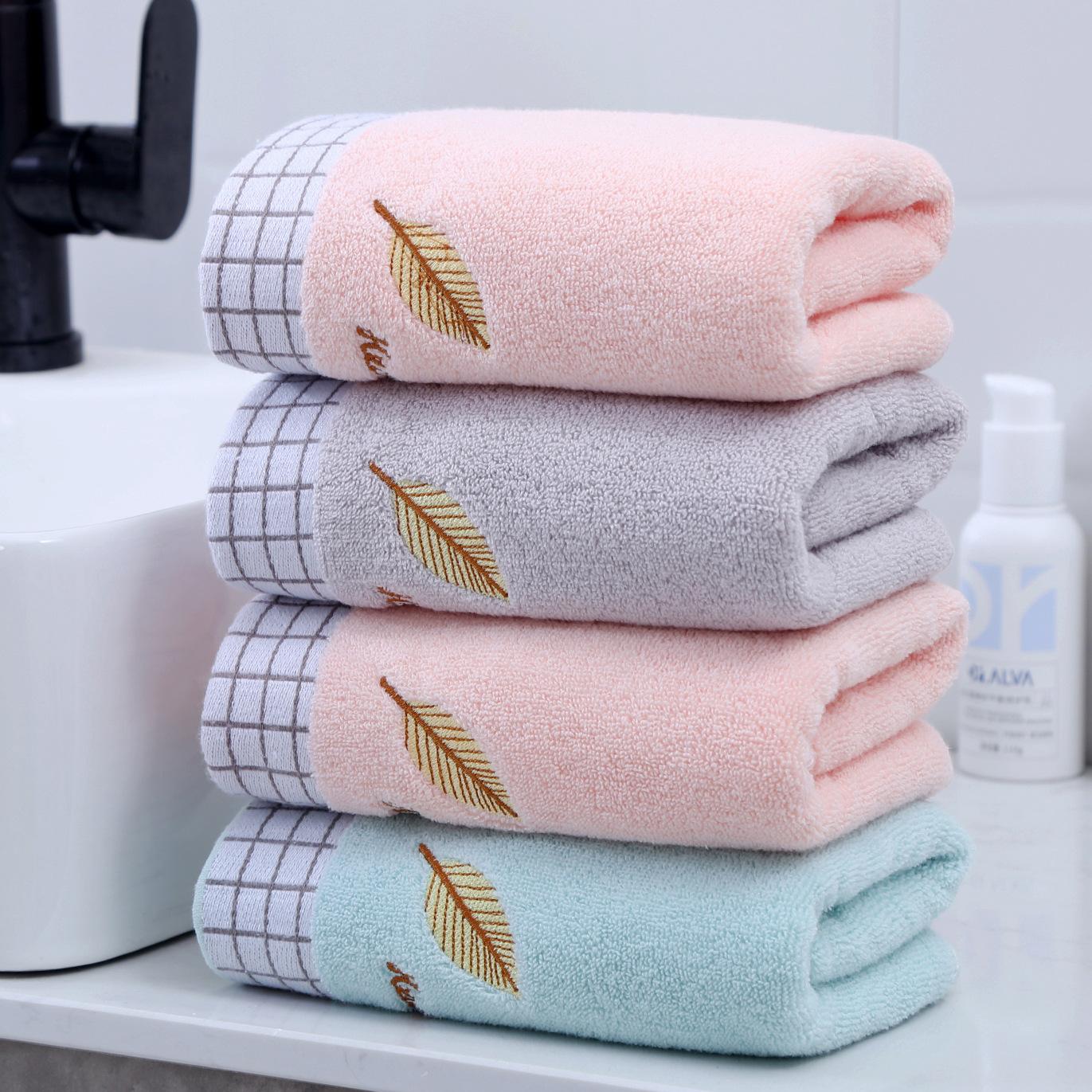 Lovevita Dệt may gia dụng Gaoyang cotton mặt rửa mặt hộ gia đình khăn mềm thấm nước dành cho người l