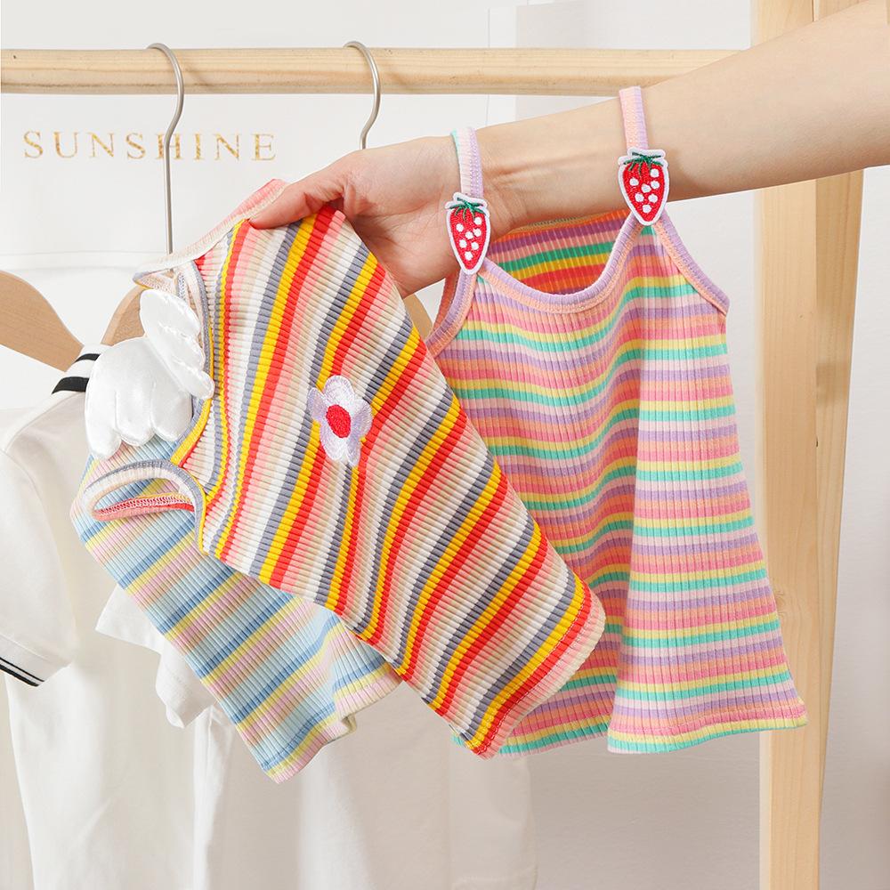 Áo ba lỗ / Áo hai dây trẻ em Mùa hè 2020 trẻ em mới yếm nước ngoài cô gái nước ngoài bé gái dễ thươn