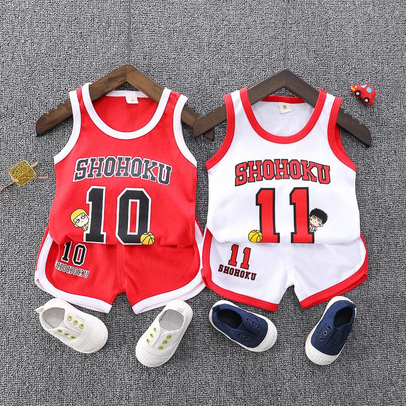 Đồ Suits trẻ em Quần áo trẻ em 2020 mùa hè mới cho trẻ em đồng phục bóng rổ vest bé trai 0-3 tuổi Tr
