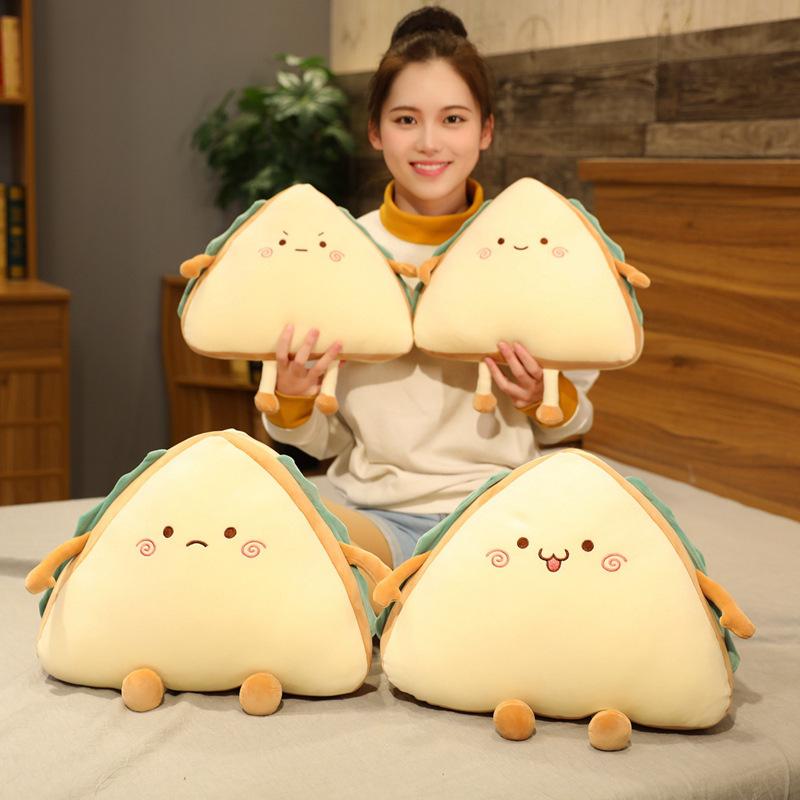 Búp bê vải Mô phỏng thực phẩm sandwich đồ chơi sang trọng đệm ngủ gối rag búp bê dễ thương siêu mềm