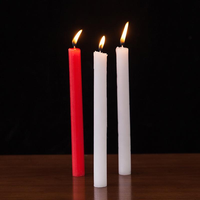 NLSX Nhôm Nến đỏ và trắng thắp nến gia đình hàng ngày nến bình thường không khói lãng mạn đám cưới d