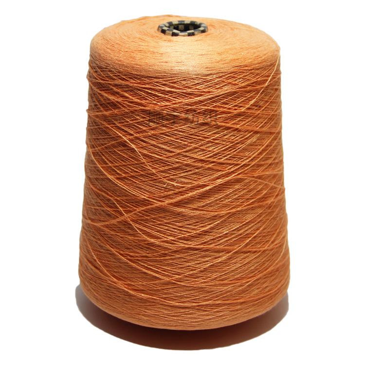 Sợi gai Nhà máy sợi màu trực tiếp sợi lanh 2 / 36NM100 sợi lanh sợi hỗ trợ tại chỗ sợi lanh nhuộm cố