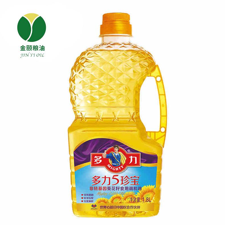 DUOLI NLSX dầu thực vật Dầu pha trộn Duoli Wuzhenbao 1.8L nấu ăn tại nhà Rau Wuanchbao Dầu hướng dươ