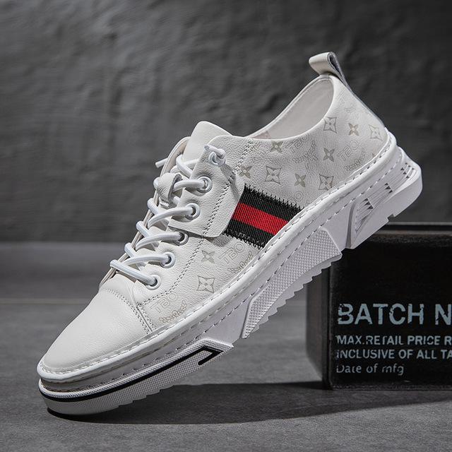 QIANGDA Giày Sneaker / Giày trượt ván Giày nam 2020 mùa xuân và mùa hè mới thoáng khí giày trắng già