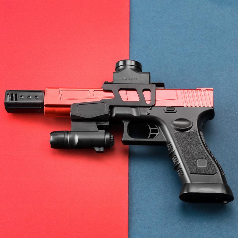 Súng giả Điện nổ tốc độ cao Súng bắn nước Glock trở lại chuyến đi đồ chơi cậu bé súng tầm xa mô phỏn