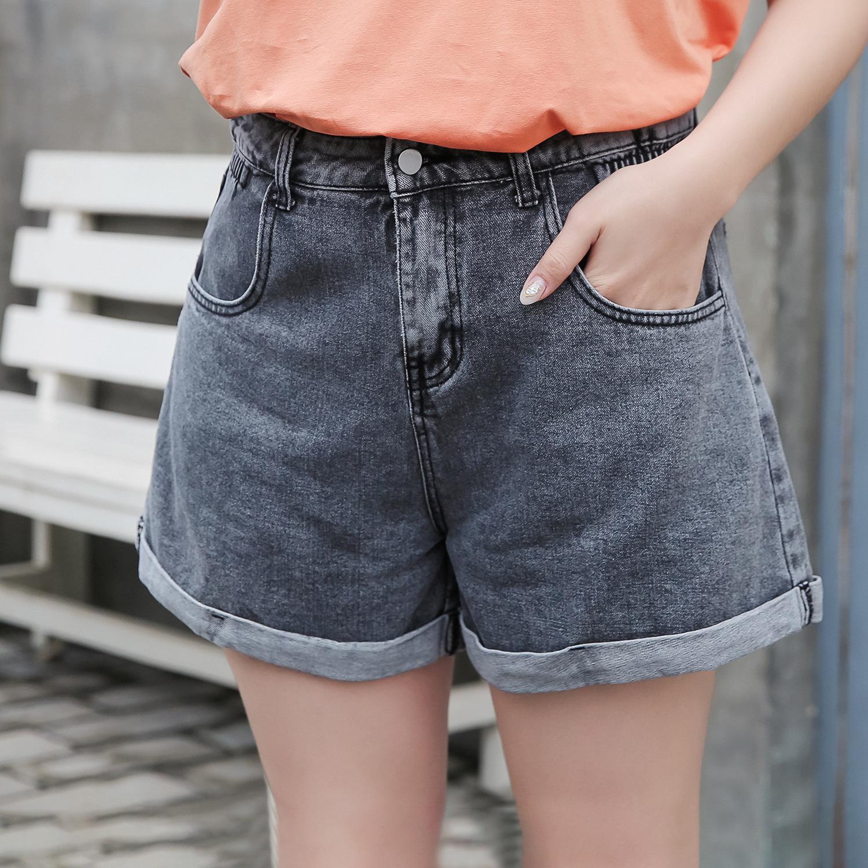 YIXUANWEIER quần Jean 2020 hè mới size lớn nữ béo mm hoang dã eo cao rộng denim mỏng Một chiếc quần