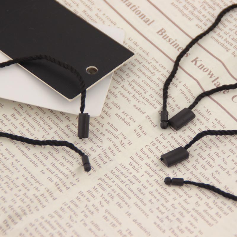 Chuỗi tag , Tag logo Tại chỗ dây dày treo hạt phổ quần áo thẻ dây nhựa ba sợi thẻ treo dây treo tái