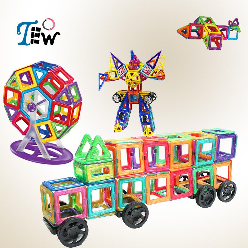 TEOW Bộ đồ chơi rút gỗ Xây dựng bộ phim từ tính giáo dục trẻ em giáo dục sớm đồ chơi phát triển trí