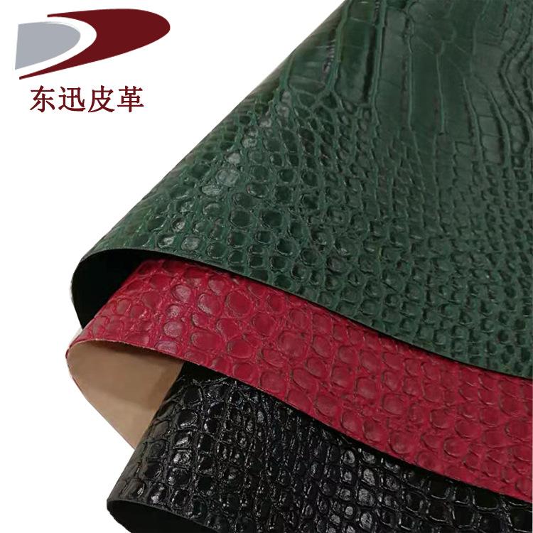 DONGXUN Vật liệu da Nhà máy sản xuất cá sấu mẫu da pu vải 1.2mm retro hành lý đồ nội thất da nhân tạ