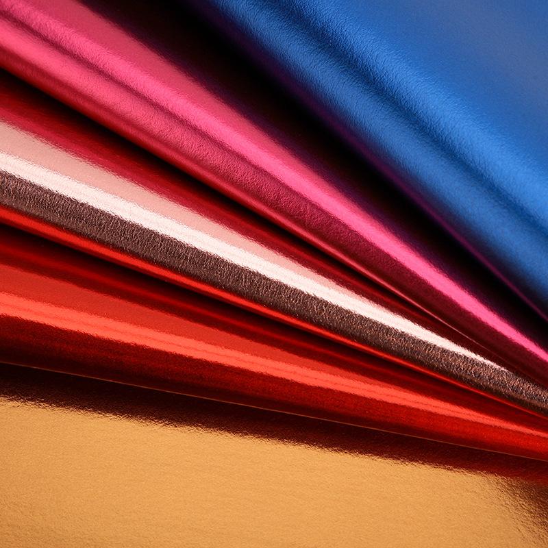 GUOHENG Da dê Nhà máy da kim loại bán hàng trực tiếp tốt da cừu hạt PVC da vật liệu túi xách túi xác