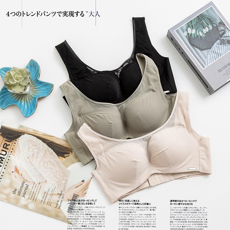 Đồ lót lụa của phụ nữ tập hợp để nâng ngực, áo ngực nhỏ gợi cảm, chống chảy xệ bên điều chỉnh loại á