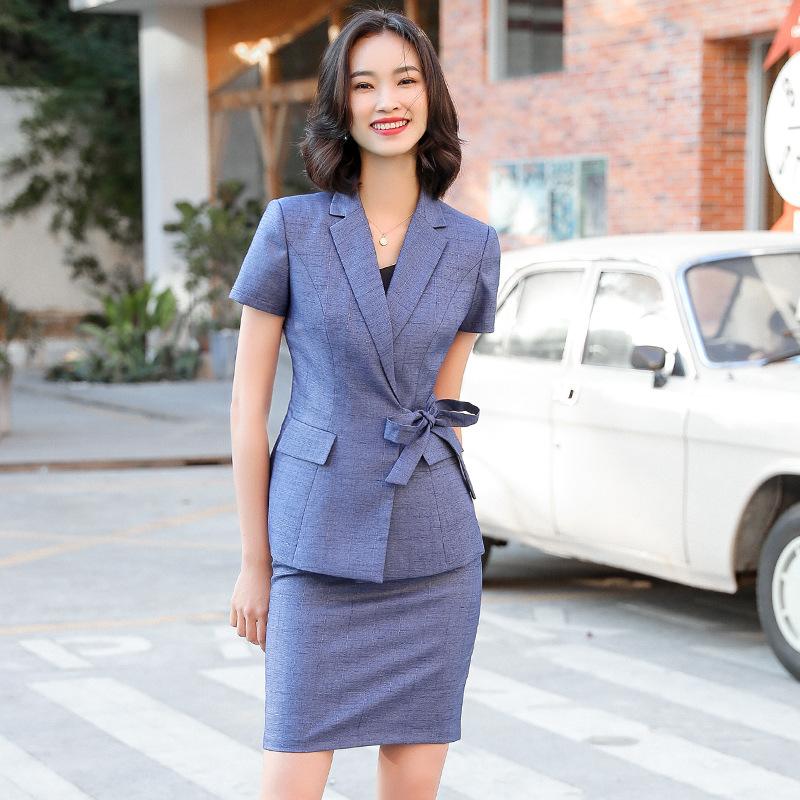 Đồ Suits Phù hợp với chuyên nghiệp cao cấp phụ nữ mùa hè phù hợp với váy mỏng trang phục chính thức