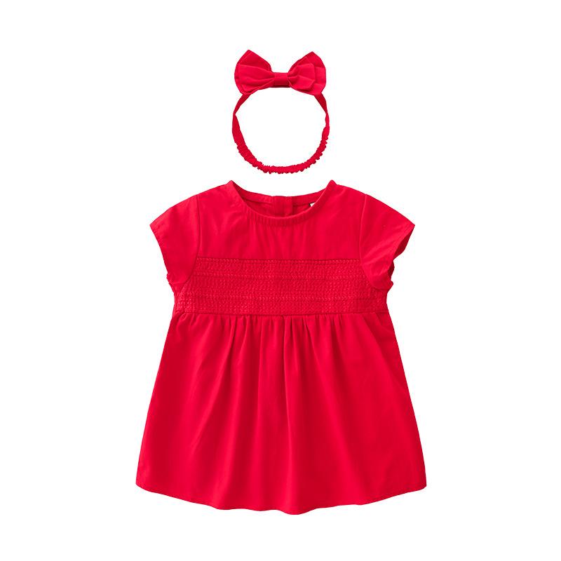 Cocapsol Trang phục trẻ em mùa hè Quần áo trẻ em mùa hè mẫu bé gái váy ngắn tay công chúa váy bé gái