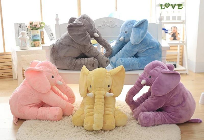 Búp bê vải Đồ chơi búp bê voi bị đình trệ làm dịu máy điều hòa không khí được gối ngủ giẻ rách búp b