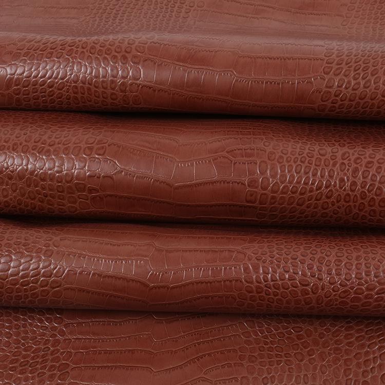 YIXING da Cung cấp trực tiếp mẫu da cá sấu da bò nhiều màu hành lý da cá sấu mẫu đầu tiên da bò hoàn