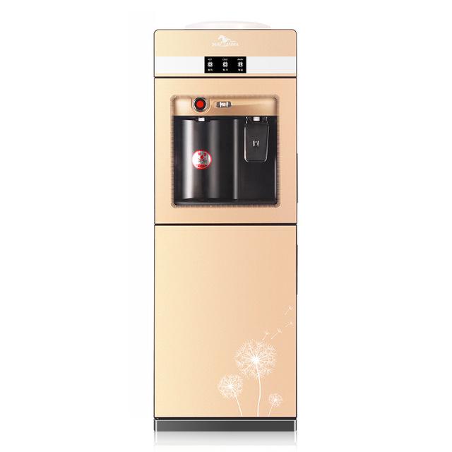 Qianma Máy lọc nước nóng lạnh mới nước nóng lạnh dọc và lạnh văn phòng băng ấm đôi cửa hộ gia đình k