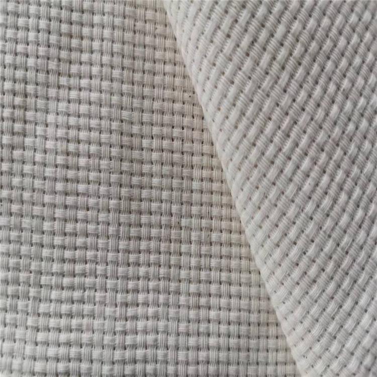 Vải mộc pha Nhà máy trực tiếp polyester-cotton pha trộn vải màu xám 9CT chéo gingham gối phòng khách