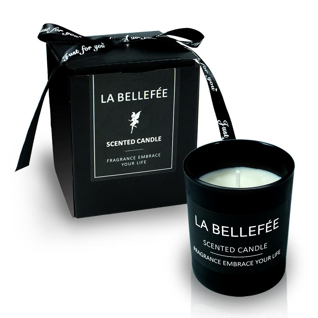 NLSX Nhôm Các nhà sản xuất tùy chỉnh cao cấp quà tặng quà tặng đen mờ thủy tinh tinh khiết nến thơm