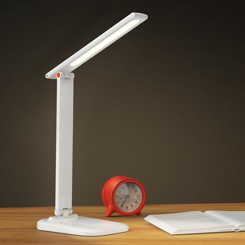 Đèn điện, đèn sạc Đèn bàn LED bảo vệ mắt bàn học sinh ký túc xá trẻ em học tập cắm sạc sử dụng kép đ
