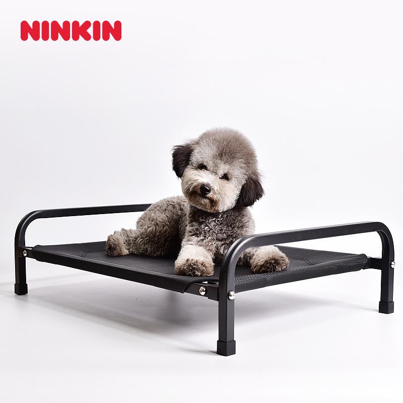 Ninkin Vật nuôi Pet sắt giường bốn mùa xuân và mùa hè thoáng khí chống thấm nước bề mặt lưới gấu bôn