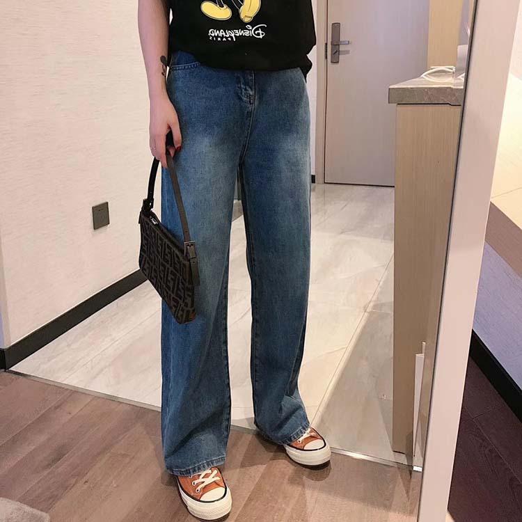 AUTH.NN quần Jean Micro-business nổ AUTH.NN quần jeans ống rộng 2020 mùa xuân lau quần ống rộng chân
