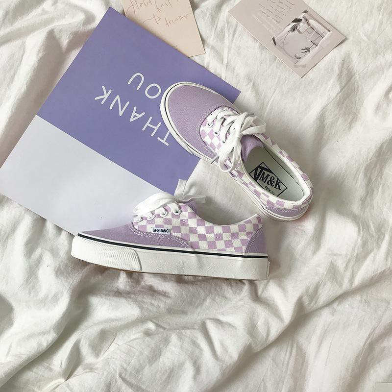 YSELLYSE giày vải 2020 mới ulzzang phong cách Harajuku phiên bản tiếng Hàn giản dị của giày lười nữ