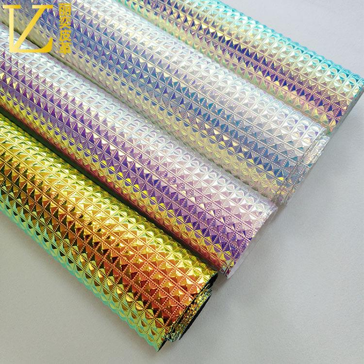 LIYI da Nhà máy bán hàng trực tiếp laser pu kim cương hạt da vải hành lý túi mỹ phẩm túi bút chì hộp