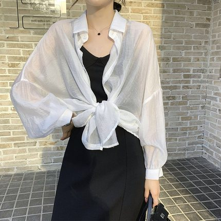 Áo khoác Cardigan  Quần áo chống nắng cho phụ nữ trong năm 2020 mới voan ngắn bên ngoài áo choàng mỏ