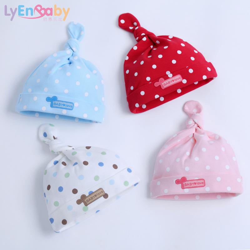 LYENBABY Đồ dùng sơ sinh Mũ cho bé kiểu mới cotton cho bé bào thai mùa xuân và mùa hè cho bé sơ sinh