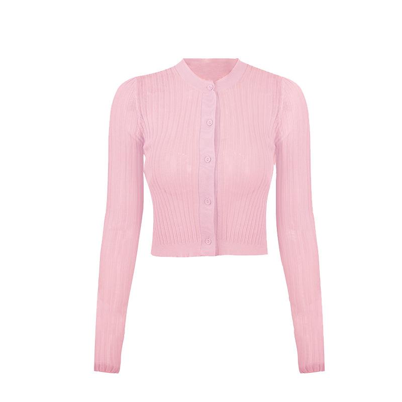 Áo khoác Cardigan Áo len dệt kim nữ mùa hè 2020 phần mỏng mới thon gọn áo len 5 màu hàng đầu