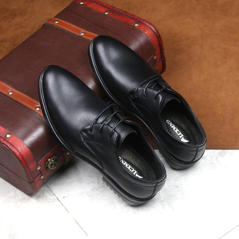 LCXMND Giầy dép 2020 mùa hè mới kinh doanh giày chính thức giày da nam ren-up mũi nhọn giày nam giản