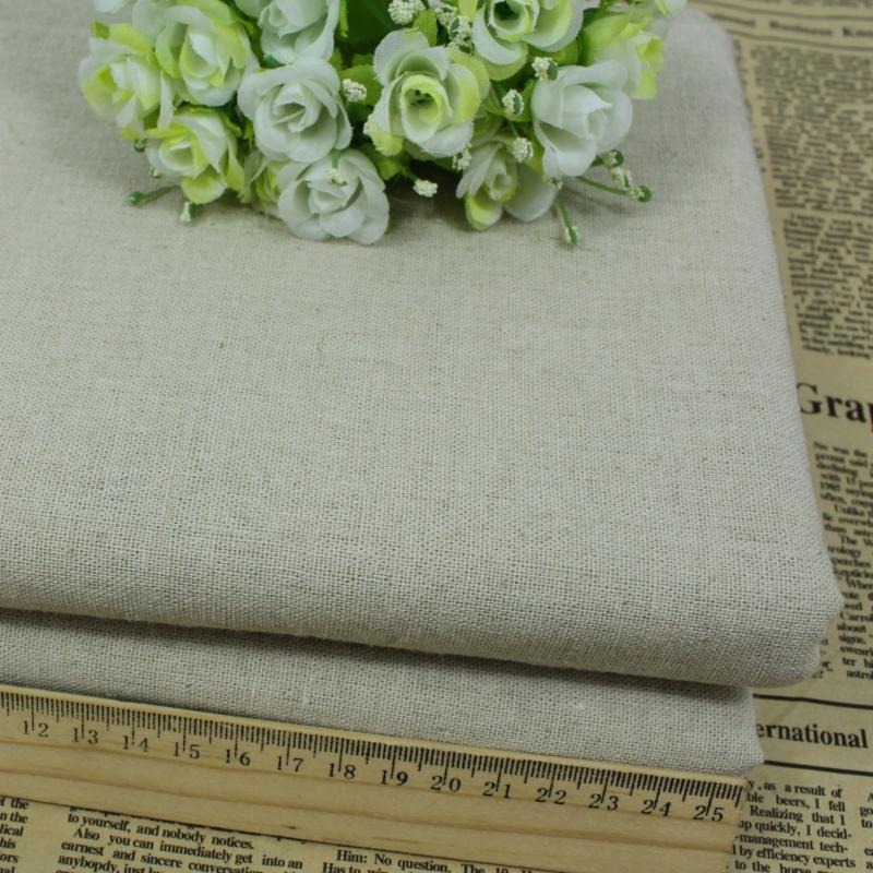 Vải Hemp mộc Màu chính tự nhiên vải lanh dầu gai dầu vải cotton và vải lanh vải nền vải DIY vải lanh