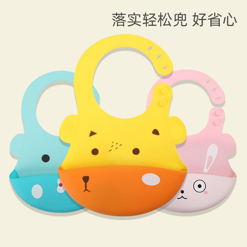 XIAOSIJI Thị trường đồ dùng mẹ và bé Phim hoạt hình trẻ em silicone túi gạo không thấm nước dùng một