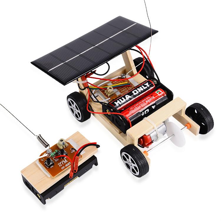 CHANGSAI Đồ chơi sáng tạo Giáo dục khoa học giáo dục lắp ráp năng lượng mặt trời điều khiển từ xa xe