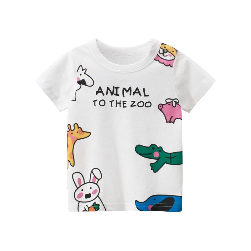 27home Phong cách Hàn Quốc thương hiệu quần áo trẻ em bán buôn 2020 hè mới cho bé gái áo thun ngắn t