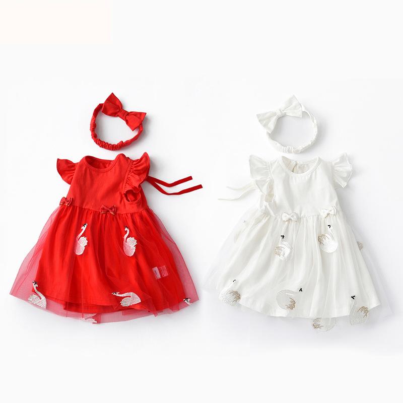 Berrytime Trang phục trẻ em mùa hè Quần áo trẻ em xuyên biên giới 2020 mới mùa hè phong cách váy thi