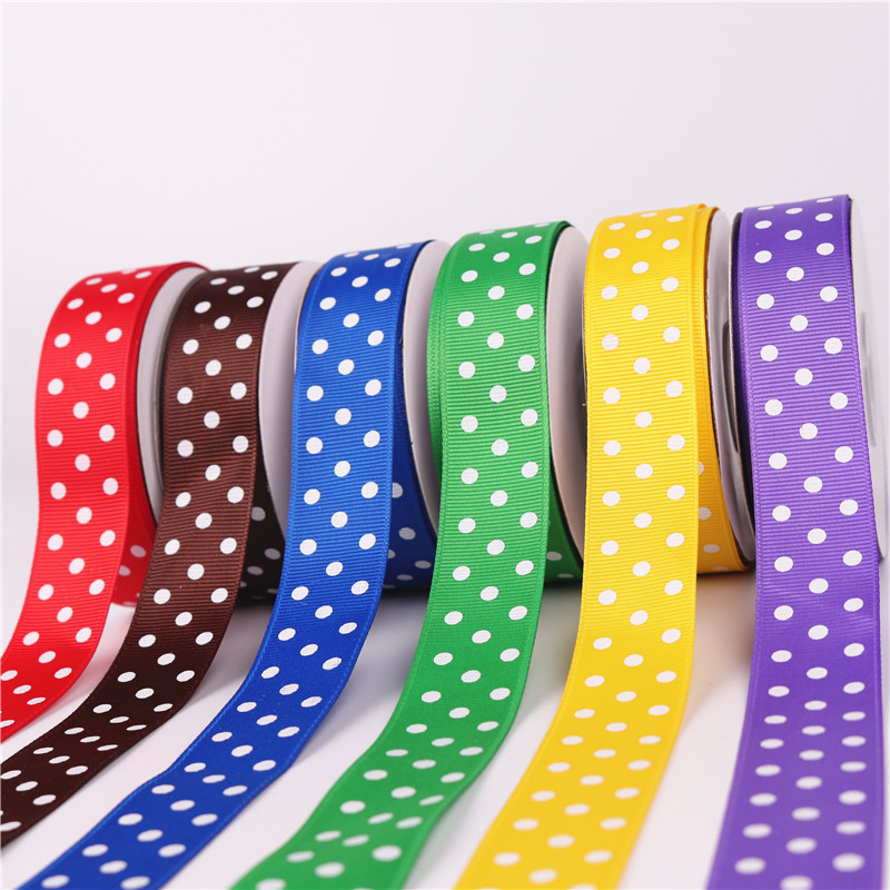 DONGDING đai dệt Dot Threaded Belt 2.5CM Ribbon Hộp quà Giáng sinh Trang trí In Belt Belt Dot Dot Th