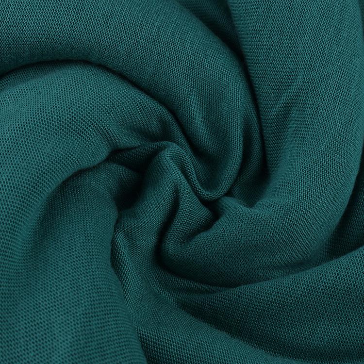 Vải đan trường đan trường đơn, áo len bằng polyester Spandex một mặt, ép buộc sản xuất hàng loạt vải