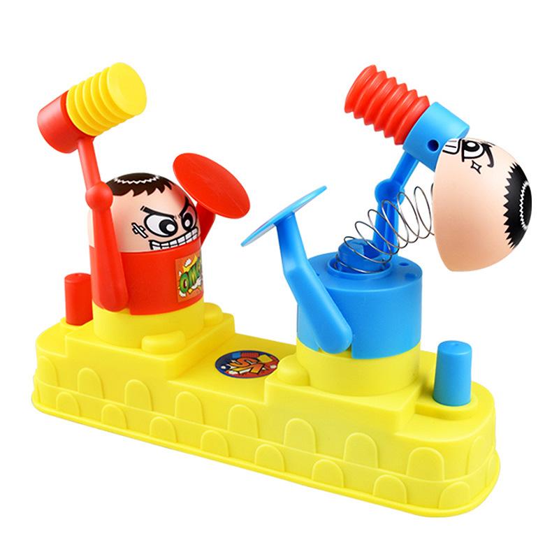 HUHUAI Đồ chơi sáng tạo Máy tính để bàn chiến đấu búp bê búp bê tương tác cha-con vui vẻ tấn công và