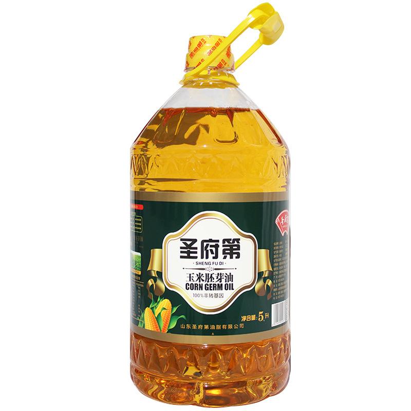 SHENGFUDI NLSX dầu thực vật Shandong Shengfu 5L dầu ngô loại một không dầu GMO ép dầu thực vật OEM