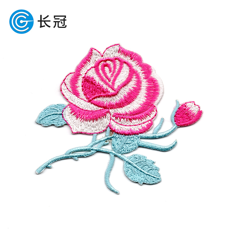 CHANGGUAN phù hiệu vải Nổ mô hình thêu hoa thêu vải bán buôn thêu máy tính chế biến tùy chỉnh dán vả
