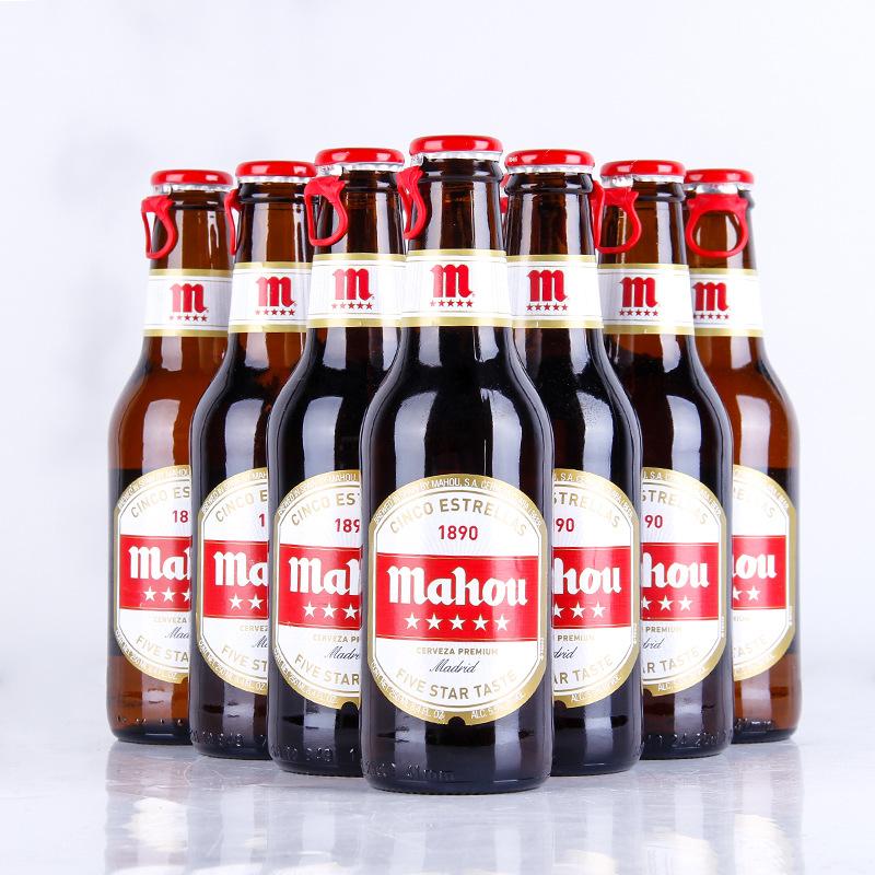 MAWX NLSX bia Tây Ban Nha nhập khẩu bia đóng chai Maao bia năm sao 250ml * 12 chai rượu vang bán buô