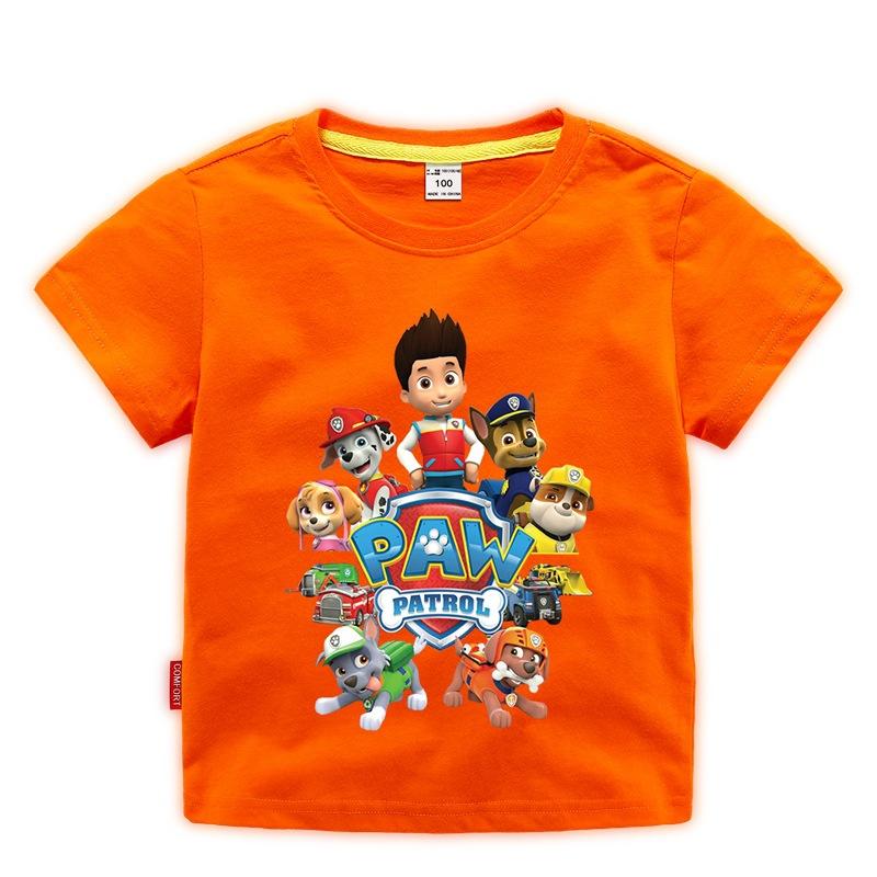 Mi Chun Phong cách Hàn Quốc Quần áo trẻ em Hàn Quốc quần áo mùa hè in phim hoạt hình trẻ em nhà sản